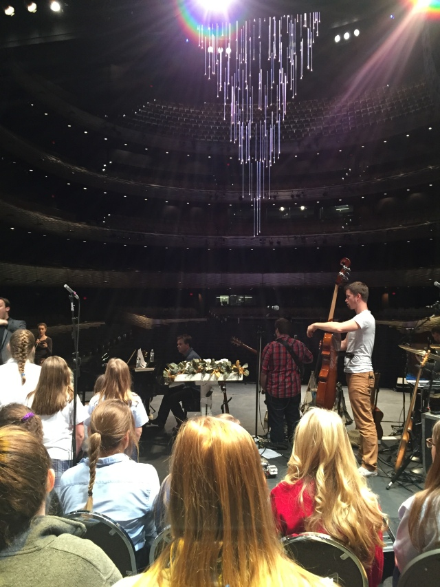 Rehearsal with The Gettys at the Winspear